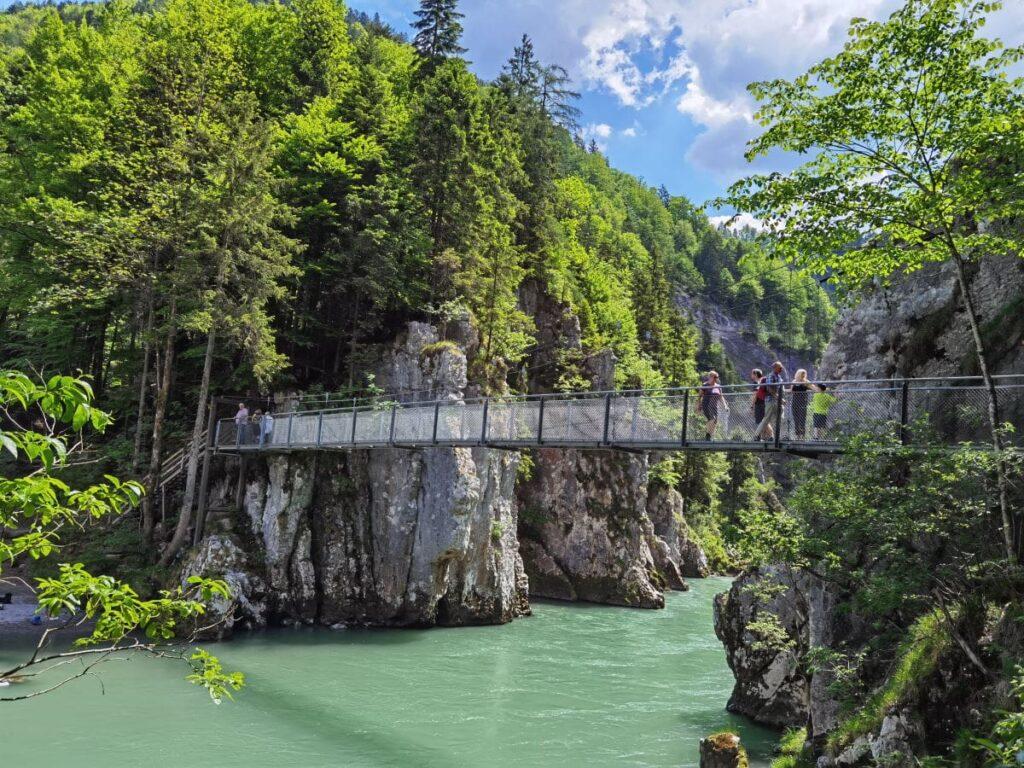 Entenlochklamm Rundweg - bei Klobenstein über die zwei Hängebrücken wandern