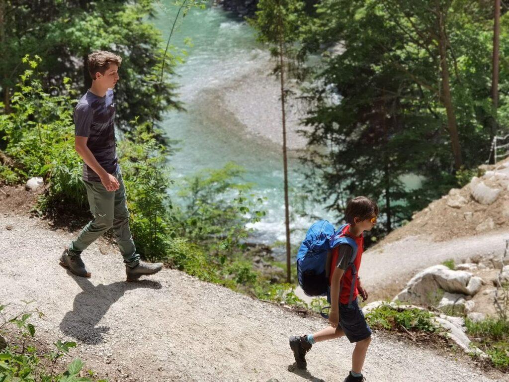 Entenlochklamm Wanderung mit Kindern? Perfekt, da sehr kurzweilig