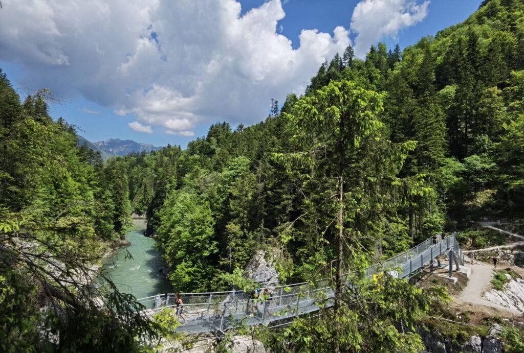 Schmugglerweg Entenlochklamm - die zweite Hängebrücke