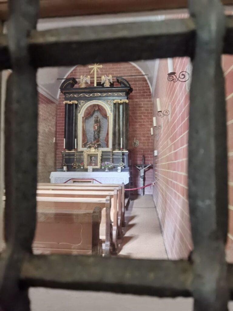 Blick in die Loretokappele in Maria Klobenstein